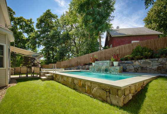 Swimming Pools Gallery Small Space Craftsmanship Swimming Pool Ideas Pool Houses Pinterest