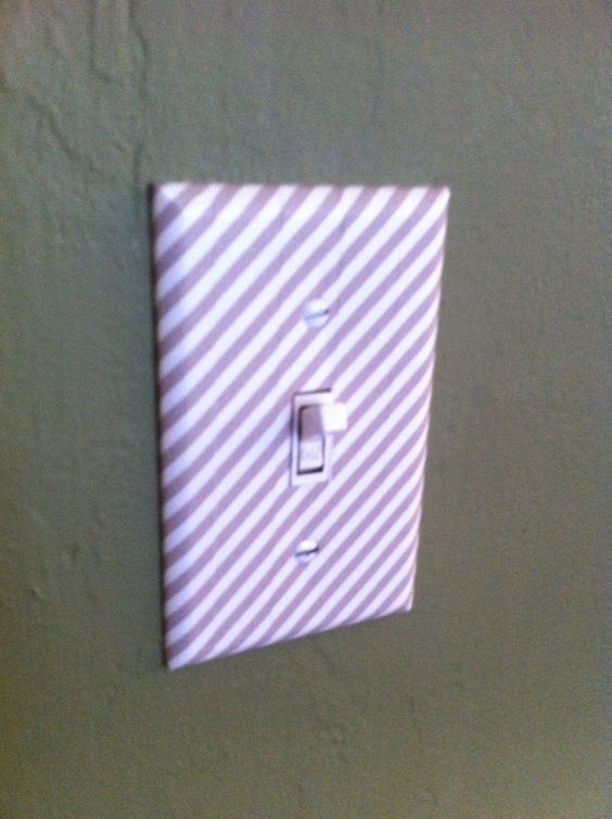 washi tape light switch cover!!