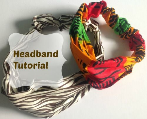 This tutorial shows you how make a headband with fabric and elastic. It