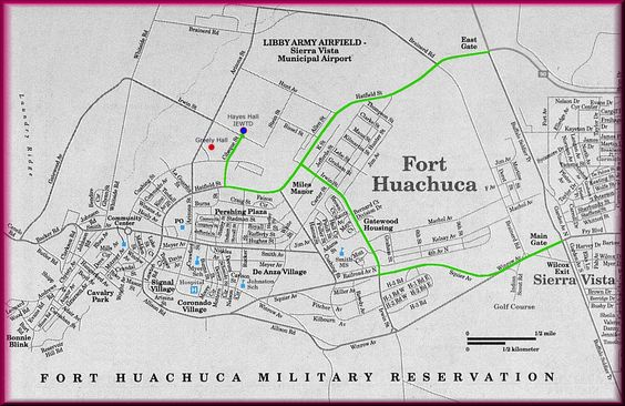 Map To Ft Huachuca Daily Service The Fort Goshuttleaz: Map Of Arizona Forts At Usa Maps