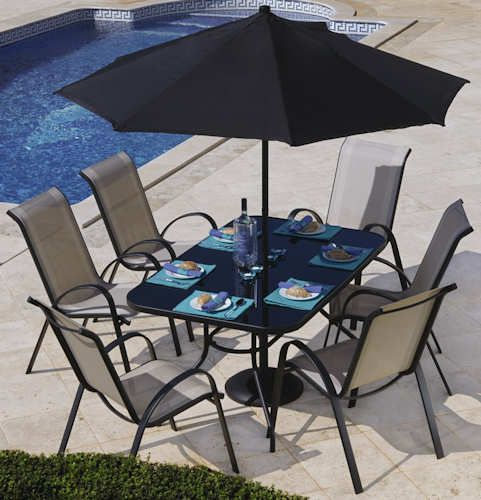 panama garden furniture set 6 seater garden furniture design - Garden Furniture 6 Seater