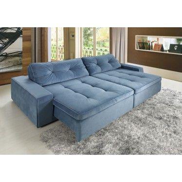 Sof impecable 3 lugares assento retr til e encosto for Sofa para sala de tv
