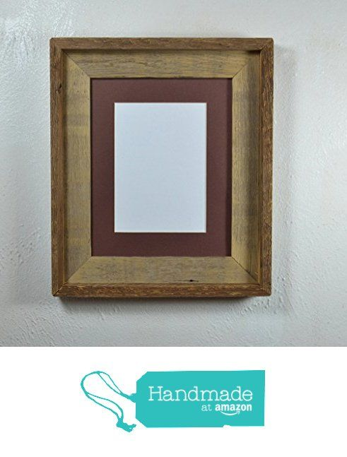 8x10 rustic picture frame from reclaimed wood with 5x7 or 8x6 mat #rustichomedecor #handmadeatamazon