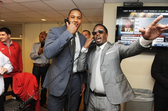 Operators are standing by %u2026 On Sept. 11 in New York the bad boys of the trading floor, NBA star Carmelo Anthony and P. Diddy, raise funds during Cantor Fitzgerald's and BGC Partners' annual Charity Day event, which commemorates employees lost on Sept. 11�
