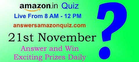 Daily Quiz Answer Amazon Quiz 21 November And Win Rs 5000 ʖ Quiz Answers This Or That Questions