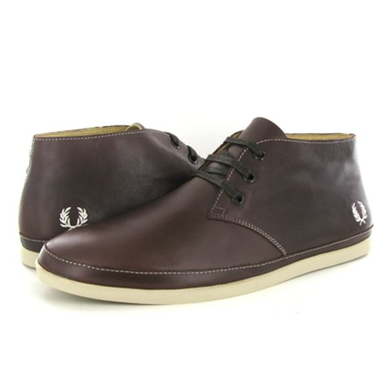 Fred Perry Chandler Leather Chocolate Mens Boots LOVE FRED PERRY