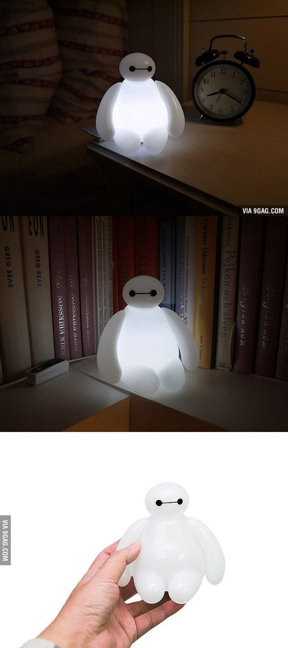 Big Hero 6 Baymax Lamp Will Help Your Kids Sleep With Awesome - deckenlampe f r k che