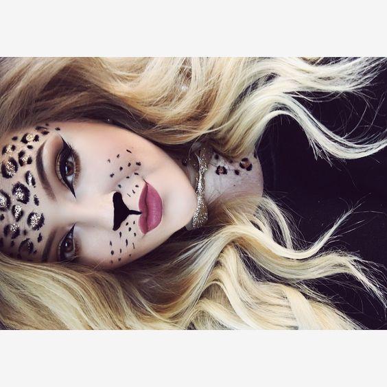 Cheetah makeup by GiGi Hess! @makeupbygigihess on Instagram!