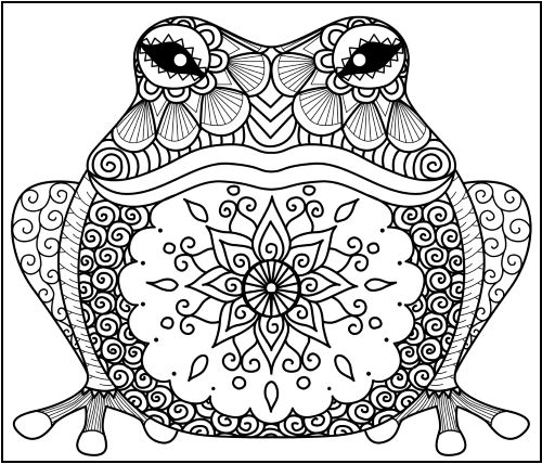 Coloring Pages Zentangle Animals In 2020 Frog Coloring Pages Animal Coloring Pages Mandala Coloring Pages