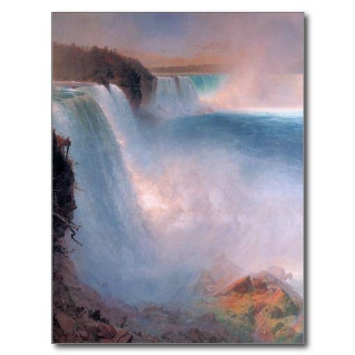 #Niagara #Falls #Postcard  Niagara Falls by Frederic Edwin Church (1826 - 1900)! Frederic Edwin Church was an American landscape painter!  thanks to the customer!