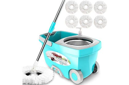 Top 10 Best Spin Mops Mop Bucket System Reviews In 2019 Spin Mop Floor Cleaner Microfiber Mops