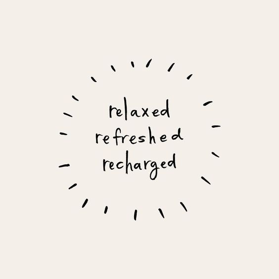 relaxed • refreshed • recharged | Pace Creative Design Studio  #pacecreative