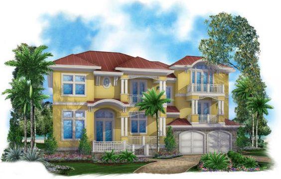 Beach House Plan OB House Ideas Pinterest House plans, Yellow