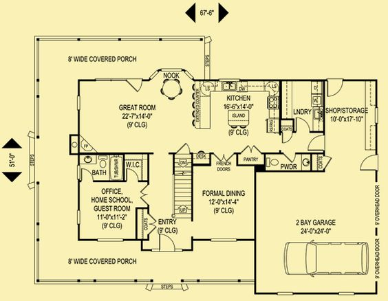 Architectural house plans floor plan details outdoor for House plans with downstairs master bedroom