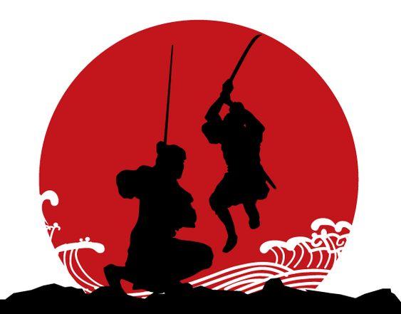 Vector Japanese Samurai Armor Silhouettes | Free Vectors ...