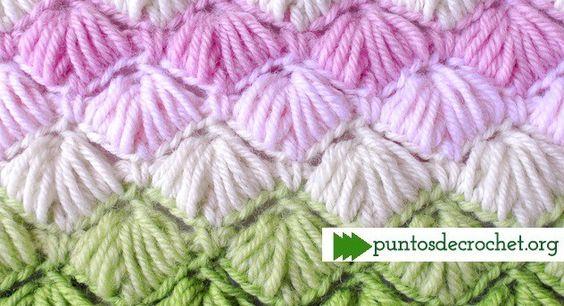 Punto Crochet Conchitas Abajo Muy Delicado