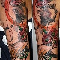 Peter Aurisch. That is an amazing one of a kind tattoo