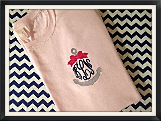 Monogram Anchor w/bow T-shirt