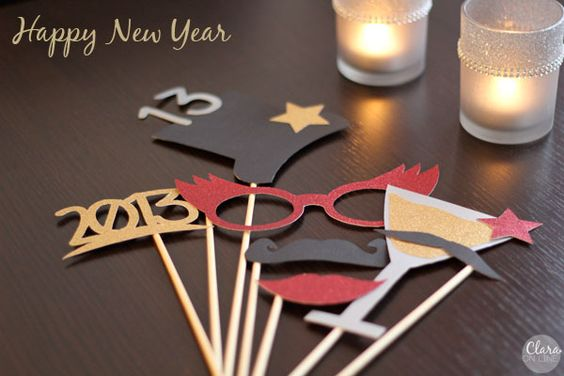 Silvester Party Photo Props
