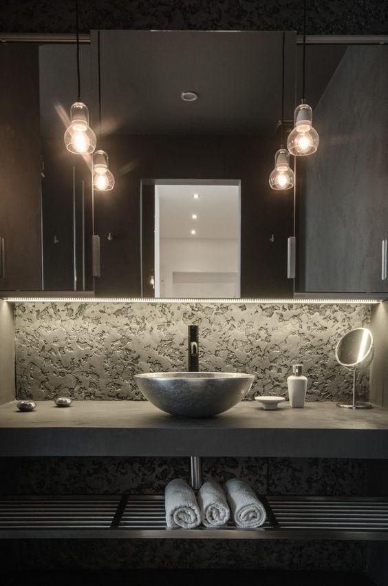 Beton Und Metall Badezimmer Eitelkeit Mit Einem Stein Waschbecken