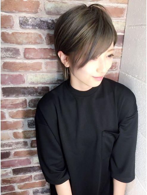 ヘアーメイクチック Hair Make Chic シルバーグレージュ 髪型 黒髪