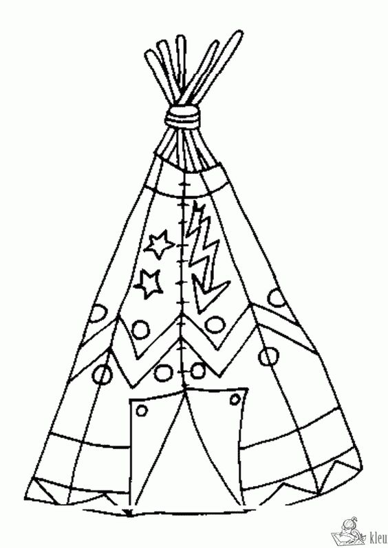 tepee coloring pages - photo#15