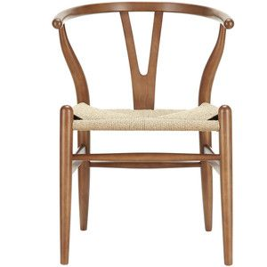 Modway Furniture Amish Wood Armchair In Walnut By