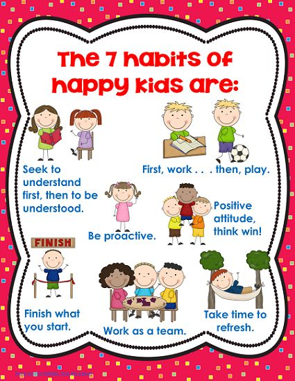 Good Habits And Bad Habits Worksheet For Kids 7 habits of happy kids 7 ...