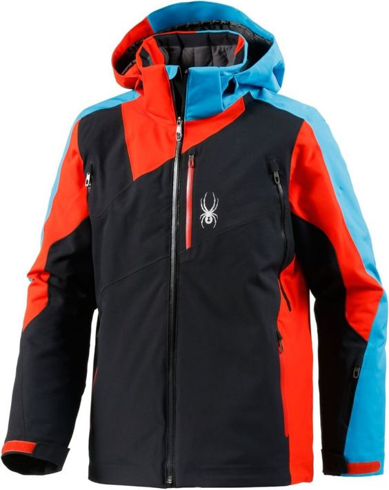 #Spyder #Vyper #Skijacke #Herren #schwarz/rot/blau