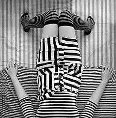 Black and white stripes make a fun piece of artwork!