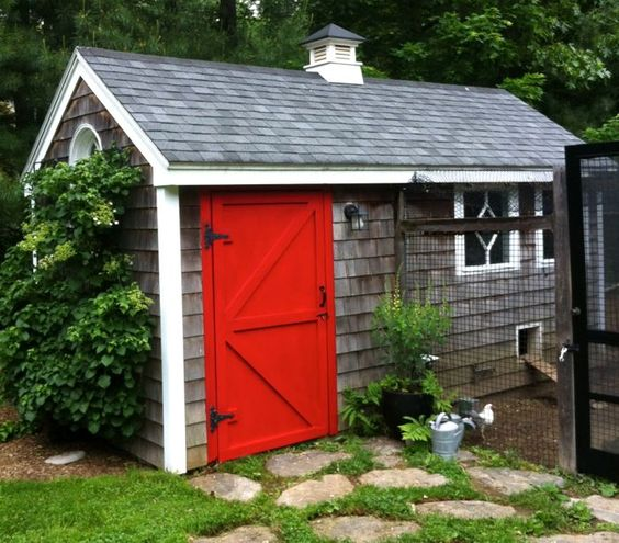 Little barn coop plans chicken coops pinterest red for Red barn plans