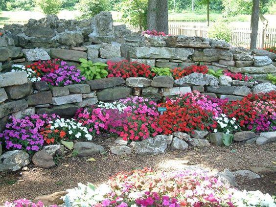 rock wall - Rock Wall Garden Designs