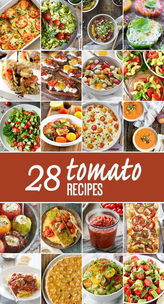 28 Tomato Recipes to make the most of tomato season! Everything from stuffed breads to dips to seafood. THE BEST TOMATO RECIPES ON THE…