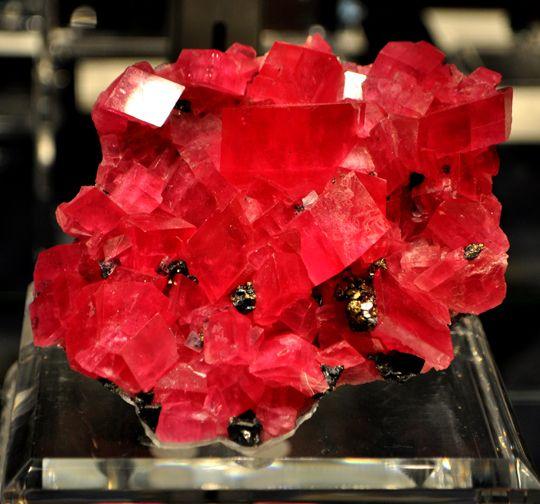 Rhodochrosite crystals