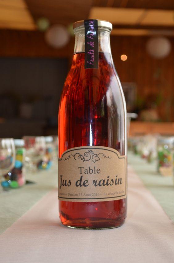 Étiquette de bouteille personalisée