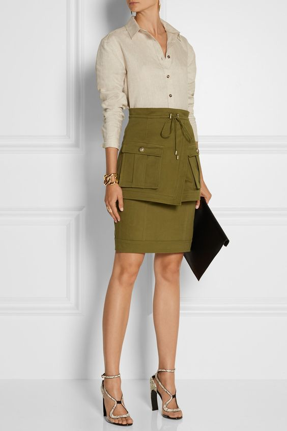 safari style mini dress