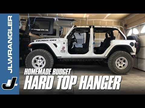 Jeep Jl Wrangler Hard Top Hoist Diy Homemade Ceiling Hanger On A