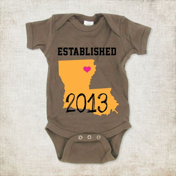 Made to Order Baby Boy's Established Custom Onesie with your State & City Newborn through infant sizes