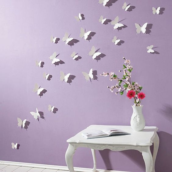 { Our Wall Stickers / Wall Decals } This 3D Butterfly Wall Stickers are easy to apply and cost effective to change room feeling; it also gives fantastic looking on boring wall or any other smooth surface. Our stickers are perfect as wall decoration or diy home decor.  •Just use double side tape or bluetack to apply on clean and smooth surface •Easy to remove after, without leaving a residue. •Perfect on show window or wall or any smooth surface. •Amazing Wall stickers / Wall decals Design…