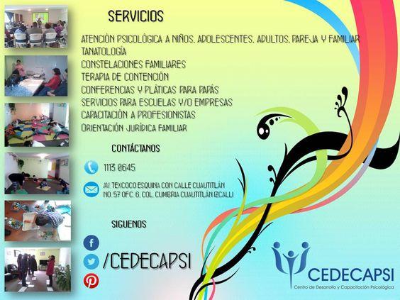 En CEDECAPSI te damos las herramientas necesarias para tu bienestar.
