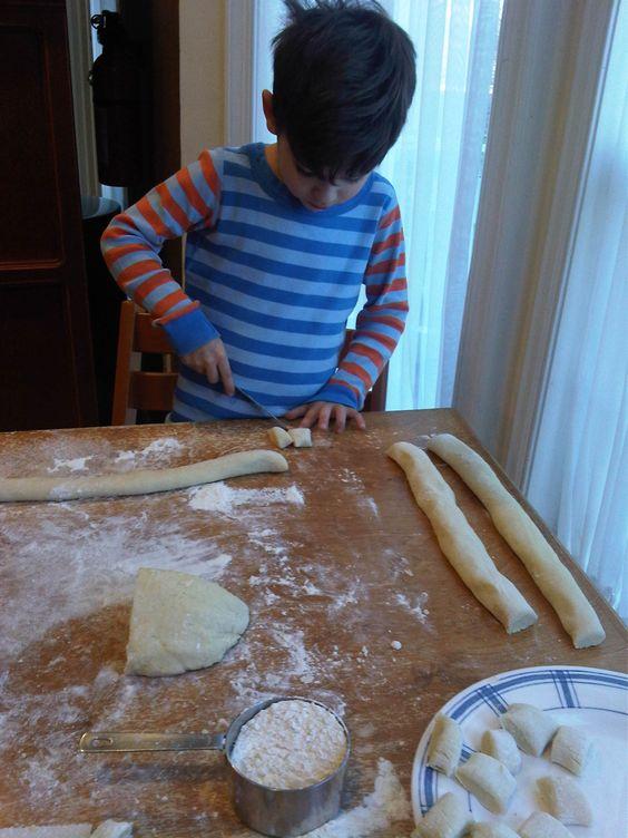 Nicholas making Gnocchi