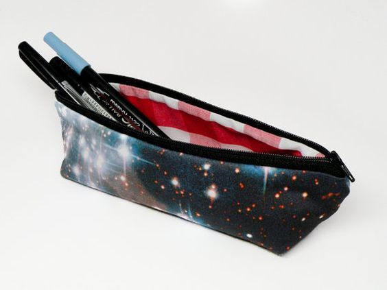 outer space pencil galaxy zipper pouch makeup bag