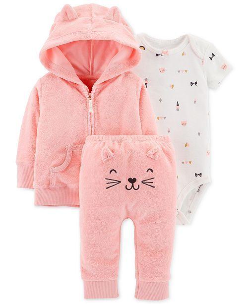 Newborn Baby Girls Kitten /& Bunny 5 Piece Clothing Layette Gift Set