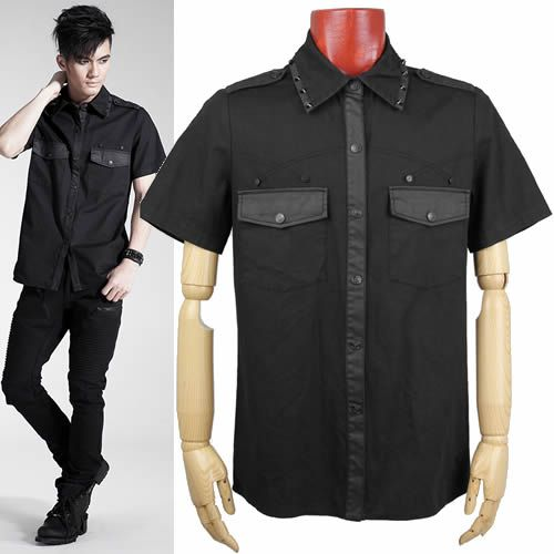 Collection Mens Black Short Sleeve Dress Shirt Pictures - Fashion ...