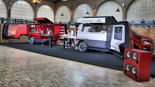 "Good design is a functional expression of purpose and after 200 years of creating household technology and a 125 years of designing transportation technology, Peugeot Design has married the two with an ingenious mobile restaurant ""Foodtruck"" concept."