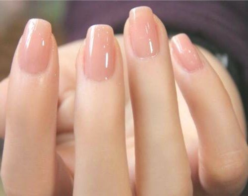 Natural Acrylic Nails Squoval Coffin Nails Are No Different Than The Normal Nails However They Got Their Na Natural Nails Squoval Nails Natural Acrylic Nails