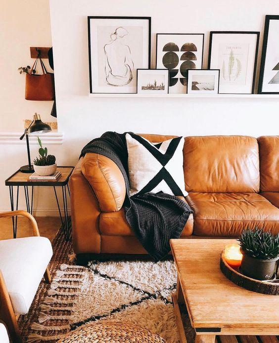 Mua sofa da thật tphcm cho phòng khách vào mùa thu đông