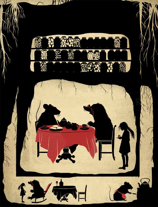"""Hans Christian Andersen """"Thumbelina"""" Illustrator Natalia Akimova:"""