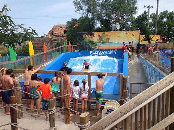 Feel like you're really riding the wave only on Surfing Safari at Noah's Ark!!