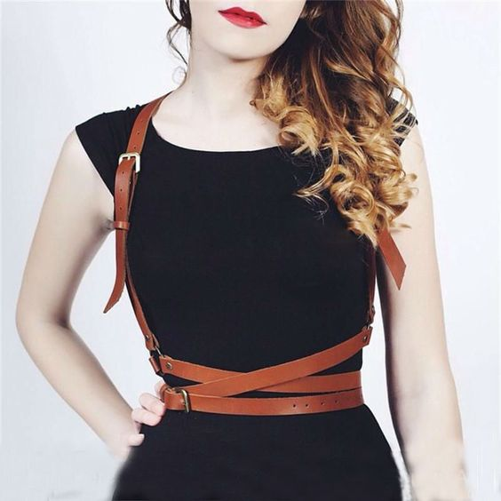 Cheap belt belt, Buy Quality belt letters directly from China belting songs Suppliers: Gothic Suspender Women Leather Harness Sexy Punk Cross Sculpting Body Waist Belt 100% handmade female belts harajuku harness